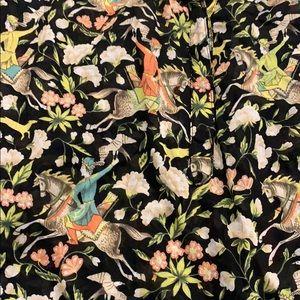 J. Crew Horse print Popover blouse